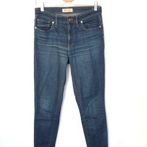 "Madewell 9""High Riser Skinny Skinny Jeans Tall 28"
